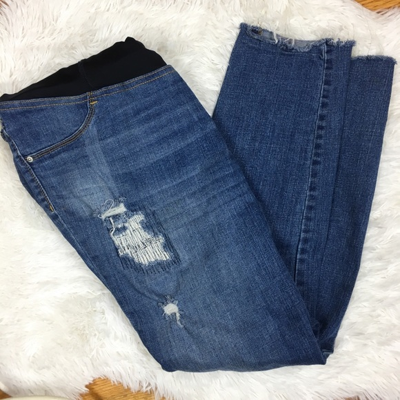 1b21cd6d69632 Ingrid & Isabel Jeans | Isabel Maternity Jeggings Ripped Distressed ...